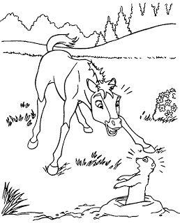 Sparet er tjent: Heste tegninger