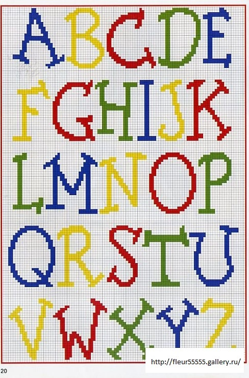 Cross-stitch Alphabet Primary Colors    Gallery.ru / Фото #40 - Rico 25, 26, 27, 28, 29, 30, 31,32 - Fleur55555