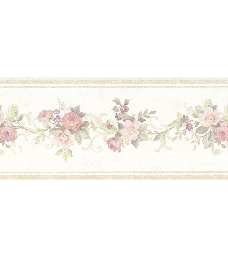 24 best bathroom wallpaper borders images on pinterest for Bathroom border paper