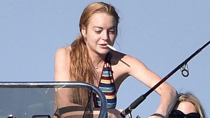 Lindsay Lohan: Mit (Baby-)Bauch Bier und Zigarette - http://ift.tt/2agVaJT