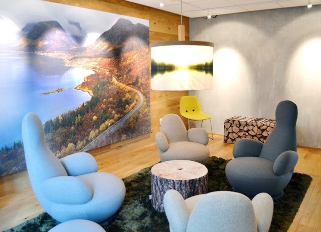 Nytt kreativt mötesrum på Statens Vegvesen i Oslo. Fåtölj Oppo från Blå Station.