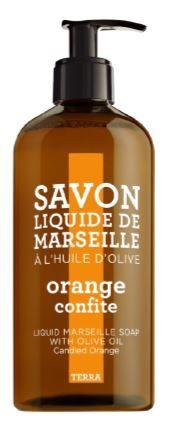 Savon Liquide de Marseille Orange  Samenstelling: De frisse geur van Sinaasappel, groene mandarijn, jasmijn, mint, Violet en Oranje bloesem.  Een rijk schuimende zeep maakt de huid soepel en droogt  de huid niet uit niet. Geschikt voor ieder huidtype. http://www.o-lijf.com/a-38333495/compagnie-de-provence/savon-liquide-de-marseille-orange/