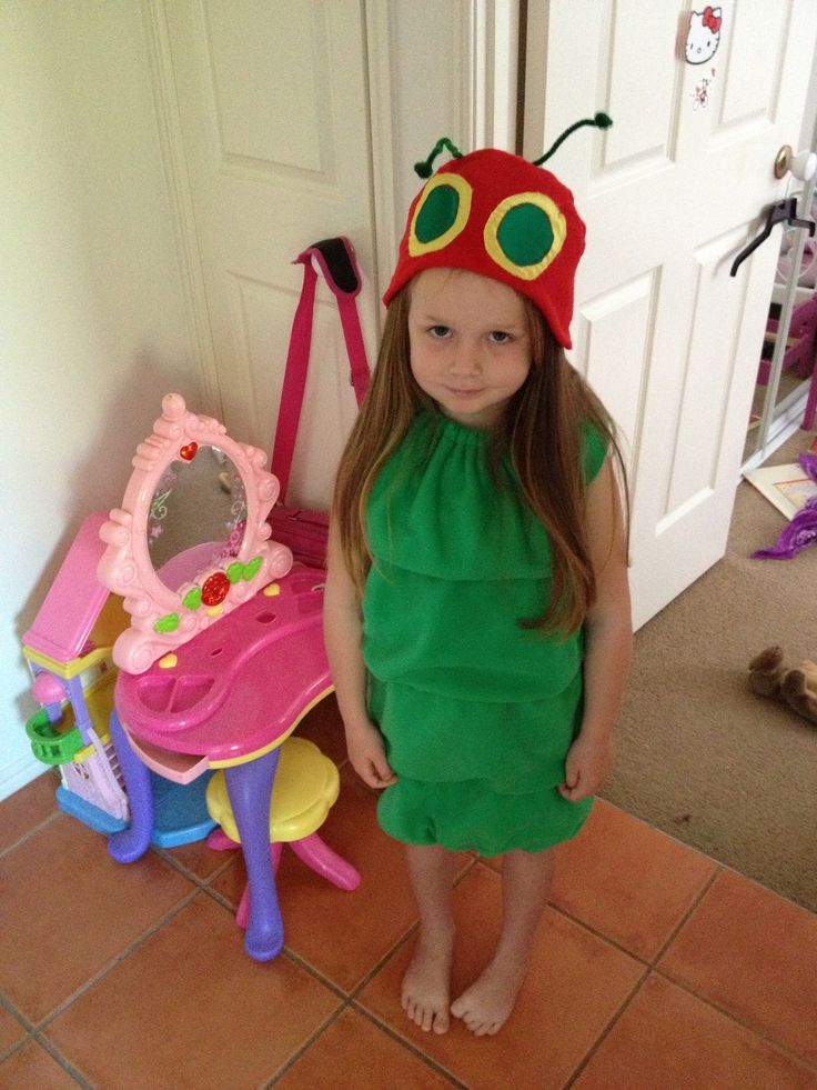 The very hungry caterpillar costume I made for book week :)
