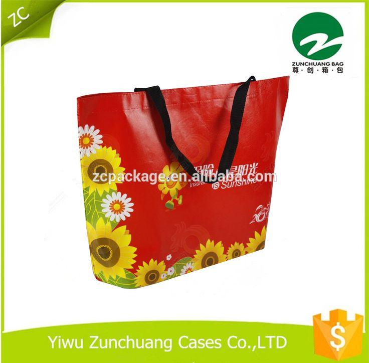 2017 fashionable promotional non woven bag handle shopping bag