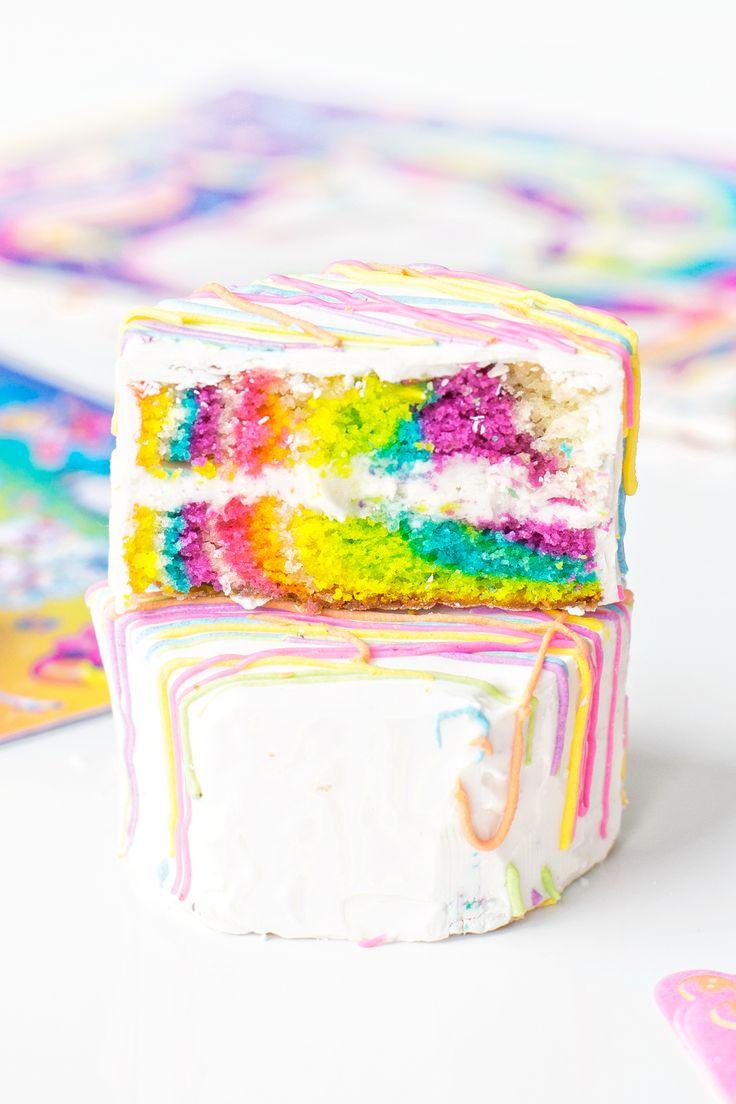 Lisa Frank Zebra Cakes | studiodiy.com