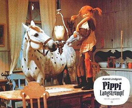 Childhood fave, Pippi. My favorite part is the horse in the house - would absolutely love to do that!