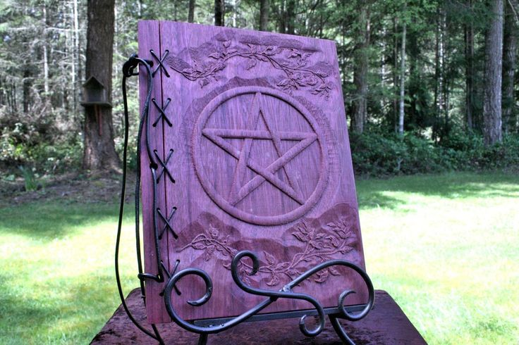 Book Of Shadows Cover Ideas : Handmade book of shadows with wood covers purpleheart