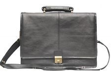 Comfort 16 inch Pure Leather Black Laptop Bag for men and women unisex EL33