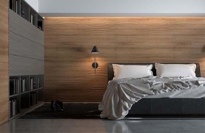 Moderní byt   Originální strukturální povrchy: kouzlo dřeva http://bit.ly/1MGiOx7