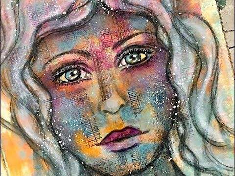 ART JOURNALING FACE TUTORIAL – NIKA IN WONDERLAND Mixed Media Art Tutorials