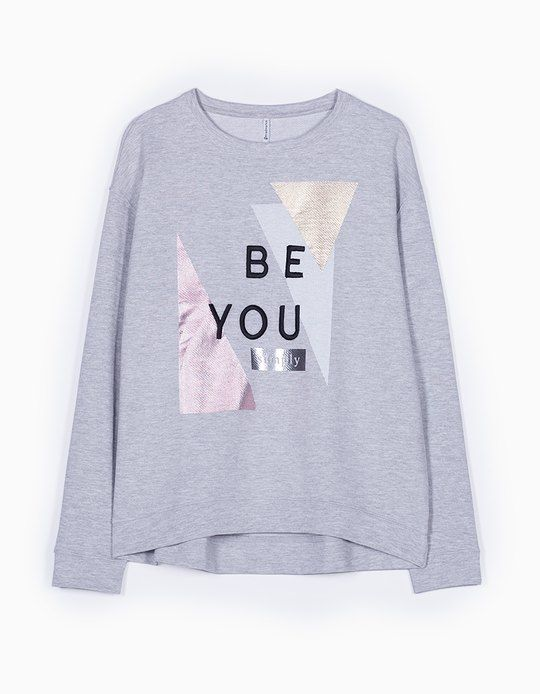 At Stradivarius you'll find 1 Print foil sweatshirt for woman for just 15.99 £…