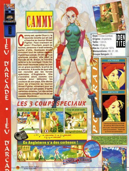 VGJUNK, Super Street Fighter II Cammy magazine spread.