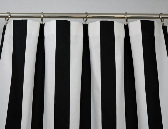 Navy Blue White Modern Vertical Stripe Curtains Rod Pocket 84 96 108 Or 120 Long By 24 50 Wide Optional Blackout Cotton Lining