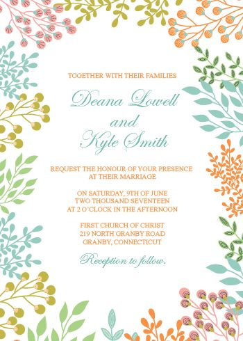 Free printable PDF Wedding Invitation Template