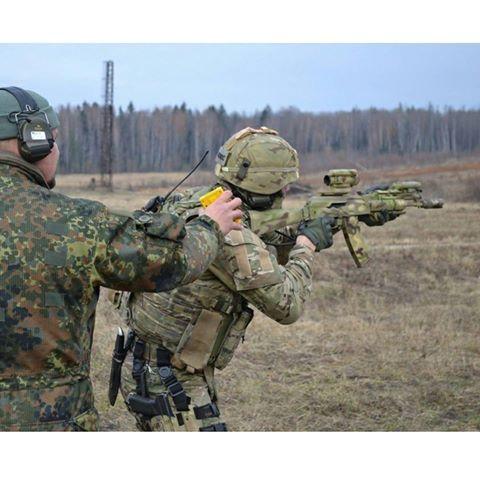 Spetsnaz FSB Alfa operator testing his accuracy, AK-105