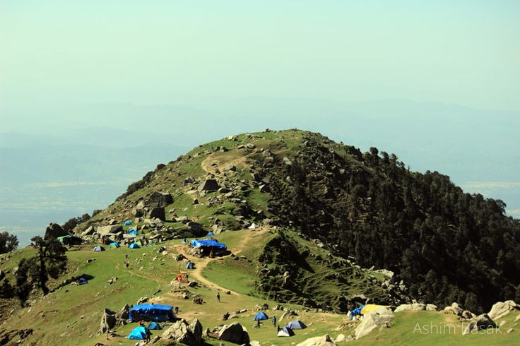View of Triund on the way to Snowline