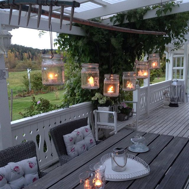 Shabby and Charme: Un magnifico outdoor a casa di Ingela in Svezia