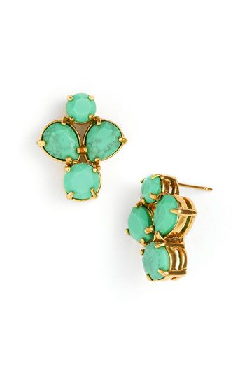 kate spade turquoise earrings. i need these.