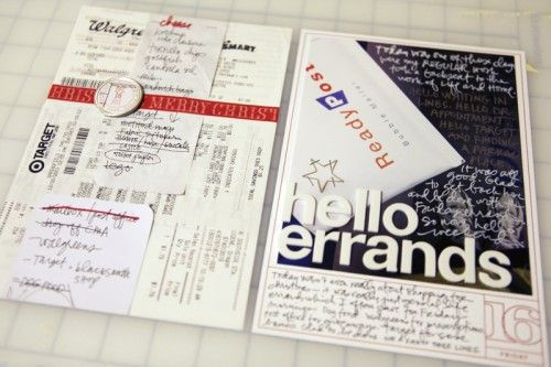 great way to arrange receipts for travel journal.