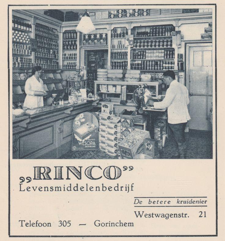 Advertentie Mooi Gorinchem augustus 1934 - Levensmiddelenbedrijf Rinco Westwagenstraat 21