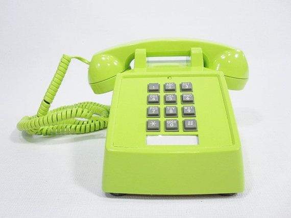 Neon phone. I kind of wish I still had a house phone...