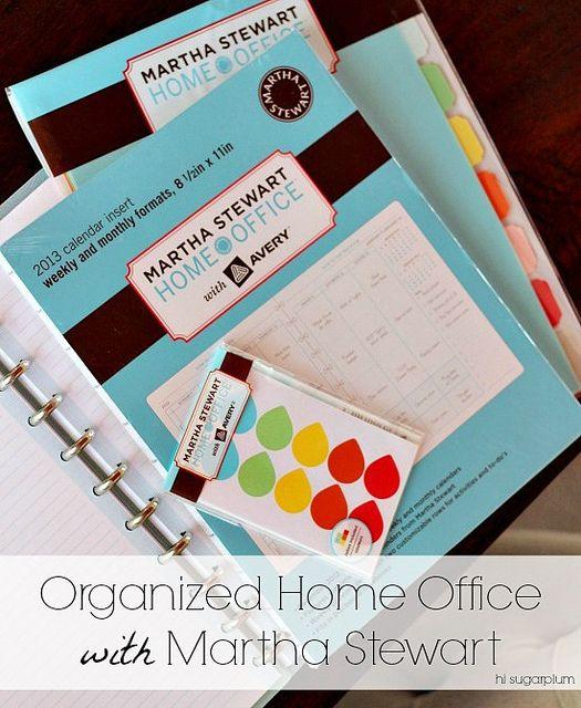 Hi Sugarplum | Using Martha Stewart's Home Office supplies to organize...everything! @Martha Stewart