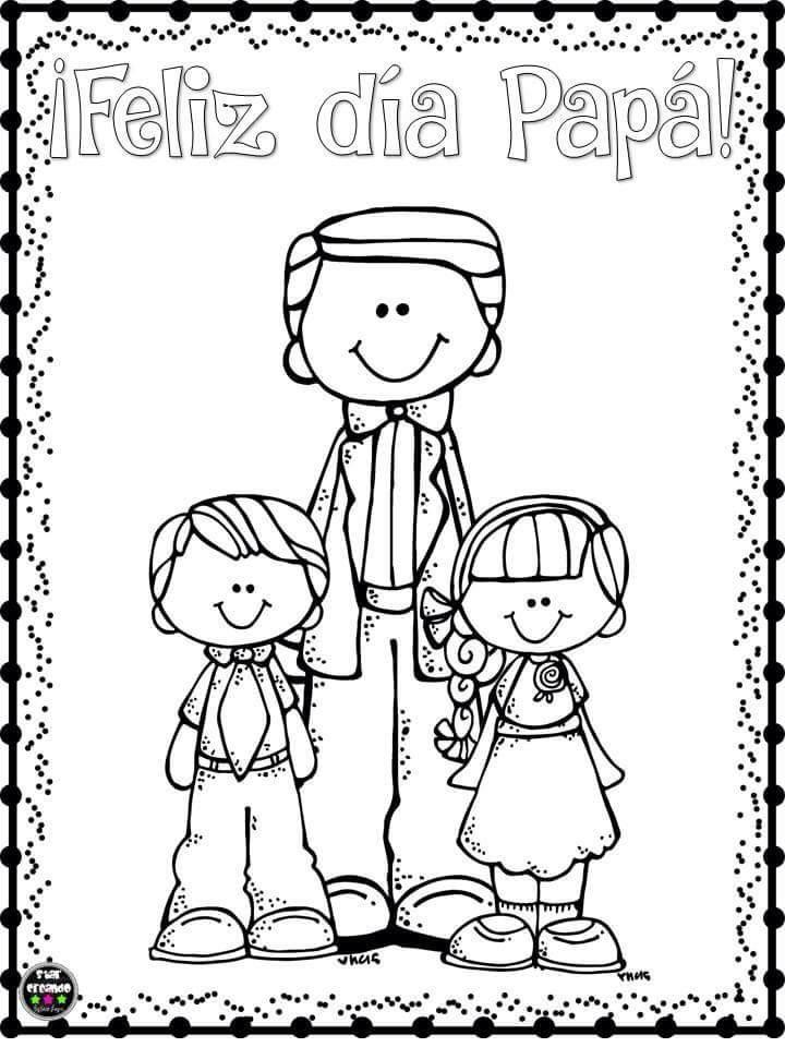 Lindos Dibujos Para Colorear Y Celebrar El Dia Del Padre Material Educativo Dibujos Dia Del Padre Dia Del Papa Tarjetas Dia Del Padre