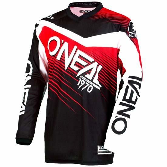 O'Neal Element Long Sleeve DH Downhill Mountain Bike MTB Jersey Black Red 2018