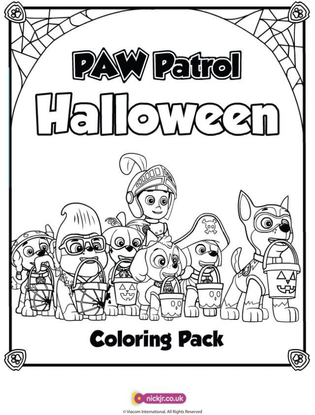 25 Inspiration Picture Of Coloring Pages Halloween Albanysinsanity Com Paw Patrol Coloring Pages Paw Patrol Coloring Halloween Coloring