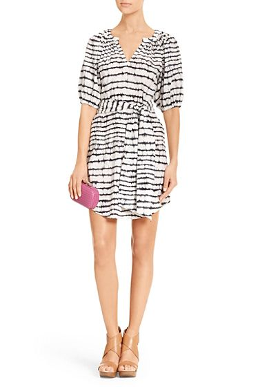 DVF | Go Boho chic in the Keoni two. With a v-neck, subtle balloon sleeves and self-tie at waist. http://on.dvf.com/192DcmT