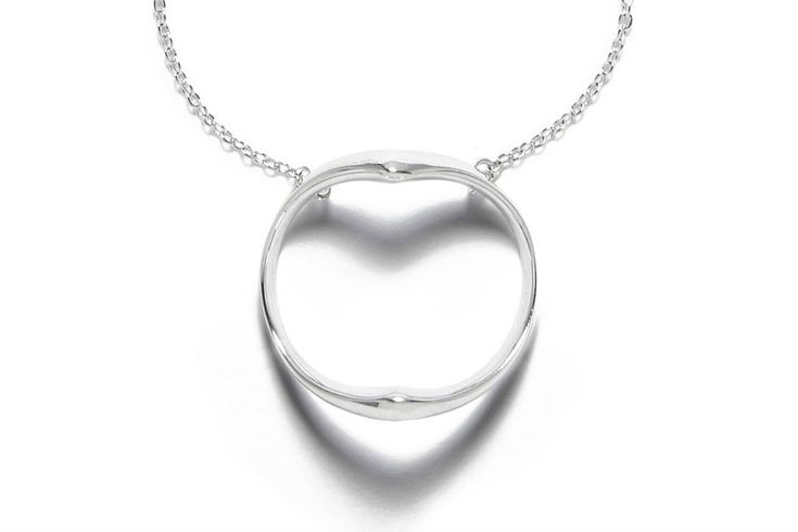 This Mother's Day jewelry gift idea is designed to cast the shadow of a heart when it catches the light. All to remind Mom that your love is ever present.
