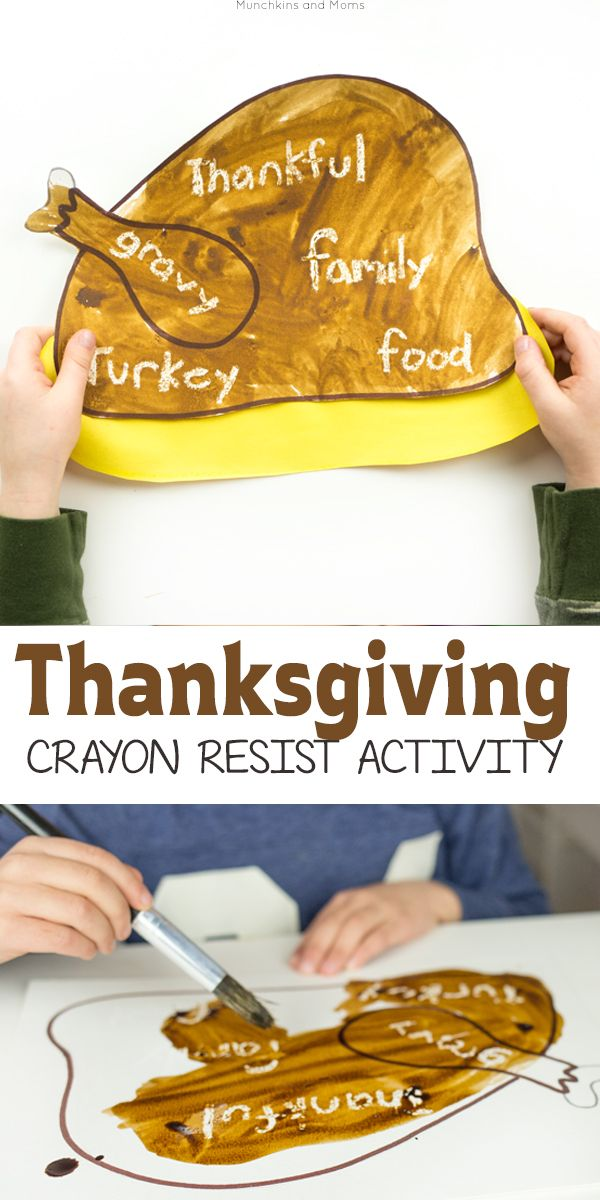 easy crayon thanksgiving drawing ideas for toddler