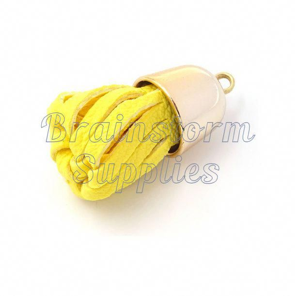 Tassels Decorative Tassels 6 Yellow Tassels With Pale Gold Caps Key Chain Tassel Tassels For Jewelry Diy Pur Diy Purse Diy Purse Tassel Fall Projects