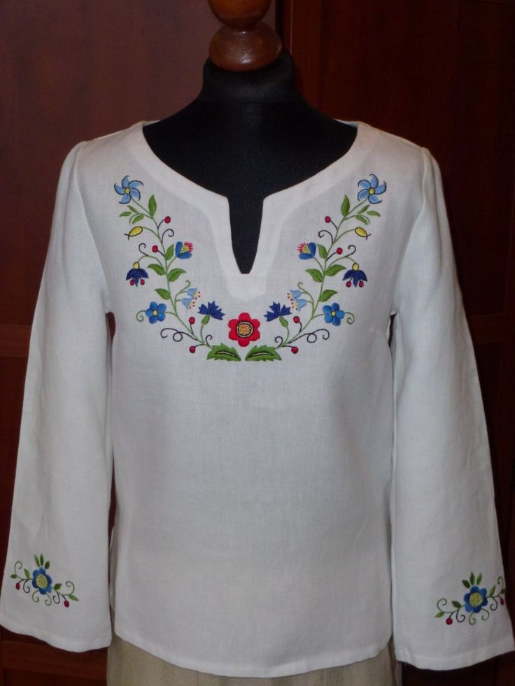 linen tunik with <b>kashubian</b> embroidery. $105.00, via Etsy.