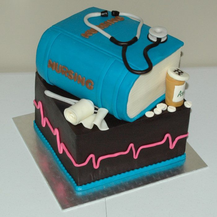 Nursing Graduation Cake - by BailiasCakes