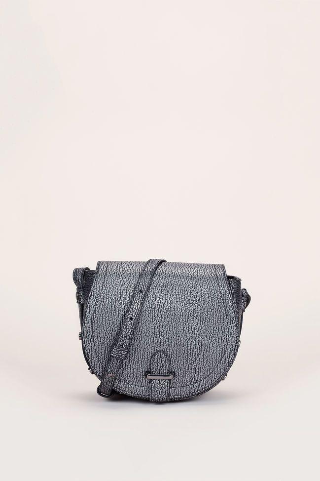 Trotteur texturé gris métallisé rivets noirs 1