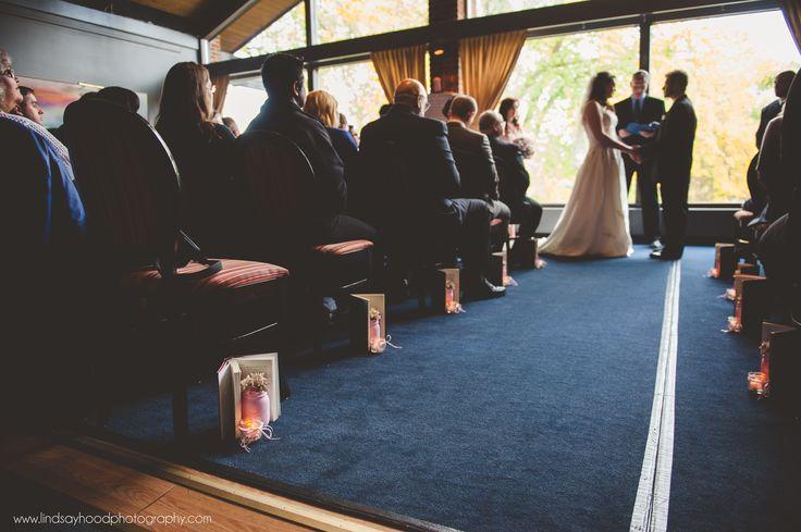 Literary wedding ceremony aisle decorations