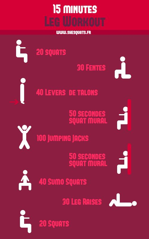 15 minutes pour des jambes fines et musclées - SheSquats