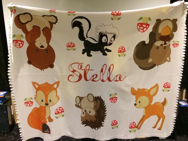 Personalised sublimated blanket.