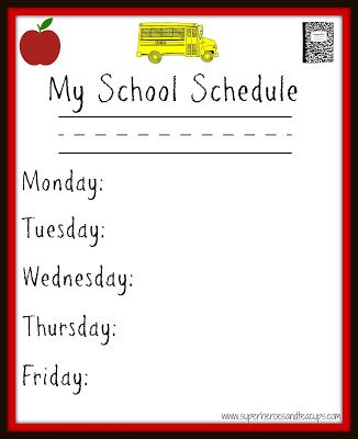 Best 25+ School schedule printable ideas on Pinterest Schedule - school schedule template