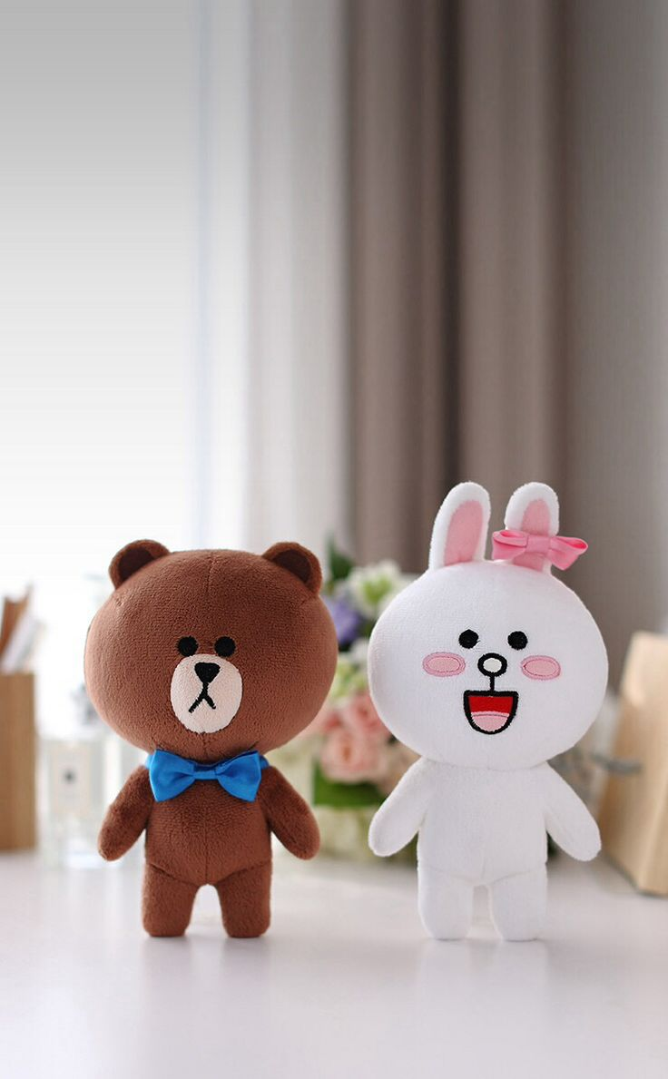 Brown and cony LINE | Kartun sosial media | Line friends ...