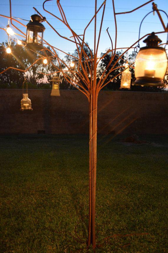 Eternal Tree: 9+ foot tall rusty steel rebar welded tree outdoor art sculpture on Etsy, $1,101.93 CAD