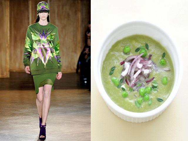 Givenchy pe 12 zuppa di piselli con timo e cipolla