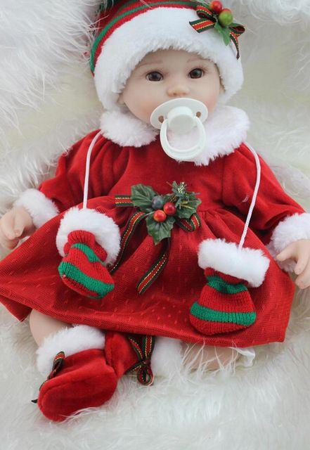 42 cm bébé - reborn fille poupée main poupée vinyle souple en silicone mode de noël lifelike boneca reborn bébé jouets pour enfants cadeau
