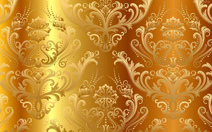Złoty, Ornament, Tło