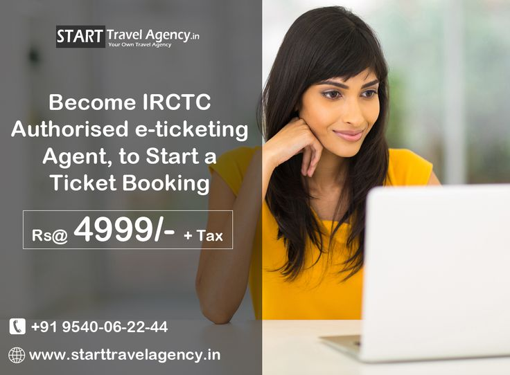 Build your own business and be your own boss! We are providing opportunity to become indian railway authorised e-ticketing agent, to start a ticket booking. kNOW MORE VISIT : http://www.starttravelagency.in/