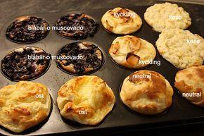 Ugnspannkaka i muffinsform.