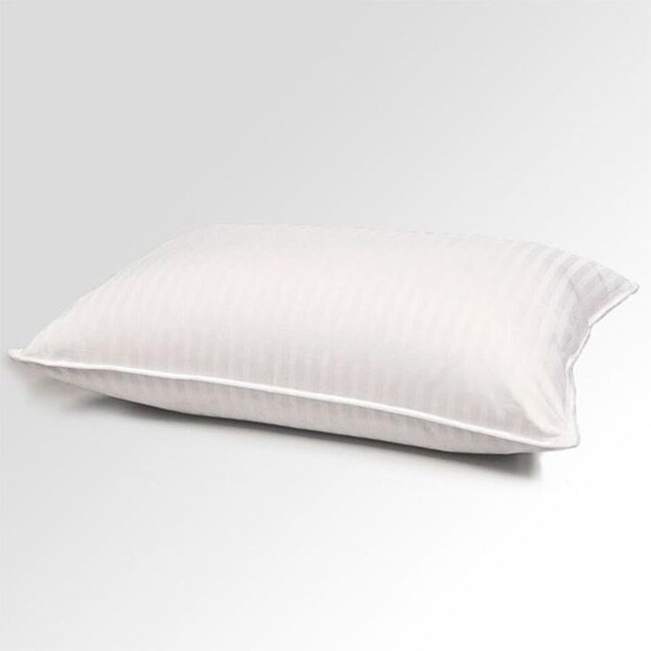 Blue Ridge 400 Thread Count 100% Cotton Damask Stripe Blend Goose Feather and Goose Down Pillow