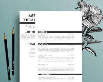 Professionale del resume, modello di lettera di presentazione, riferimenti modello, MS Word, creativo del resume, istantanea digitale Scarica, Hana
