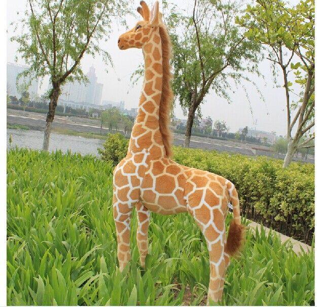 Моделирование жираф игрушка прекрасный стоя плюшевые куклы мягкая жираф кукла подарок на день рождения о 95 см